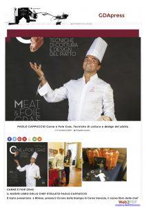 02-11-2016-gdapress.com Paolo Cappuccio Carne e Foie Gras. Tecniche di cottura e design del piatto