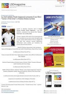 """10-12-2016 LSDmagazine.it Lo chef stellato Paolo Cappuccio presenta il suo libro """"Carne e Foie Gras"""" a Tenuta Donna Lavinia"""